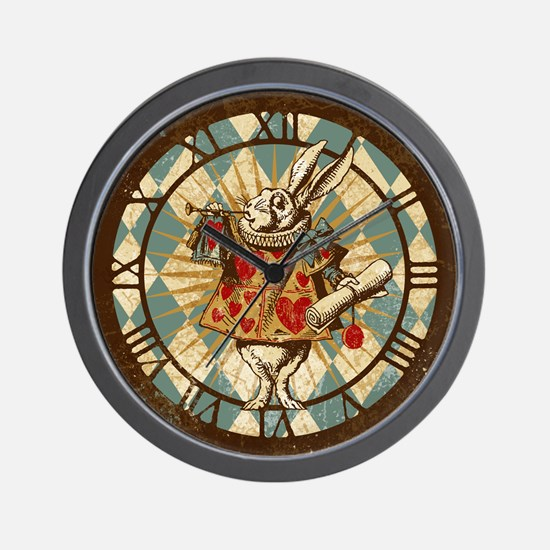 Alice White Rabbit Vintage Wall Clock