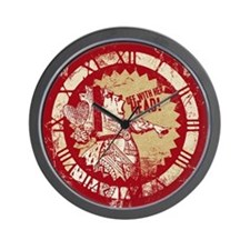 Red Queen Off With Her Head Wall Clock