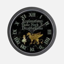 Alice Gryphon Explanations Wall Clock