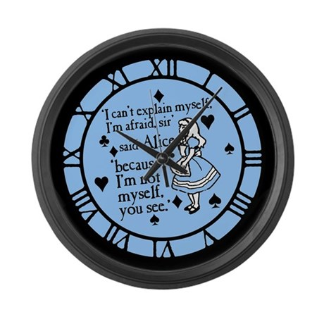 Alice Not Myself Large Wall Clock