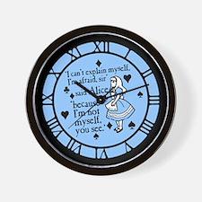 Alice Not Myself Wall Clock