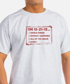End of World Checklist T-Shirt