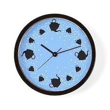 Tumbling Tea Party Wall Clock