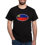 Liechtenstein Flag Dark T-Shirt