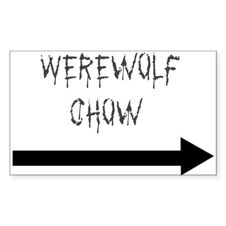 Werewolf Chow Rectangle Sticker