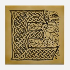 Celtic Letter E Tile Coaster