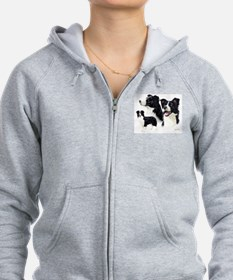 Unique Border collie Zip Hoodie
