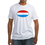 luxembourg flag Fitted T-Shirt
