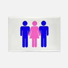 Threesome (MFM) Rectangle Magnet