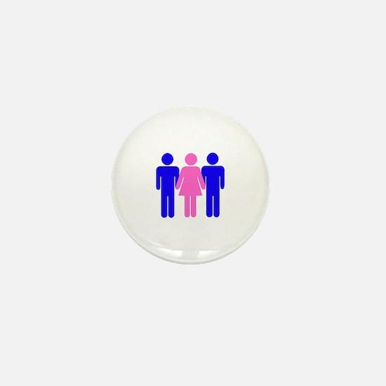 Threesome (MFM) Mini Button