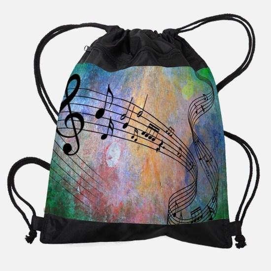 Abstract Music Drawstring Bag