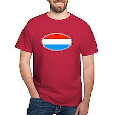 Luxembourg Flag Dark Red T-Shirt