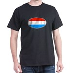 Luxembourg Flag Black T-Shirt
