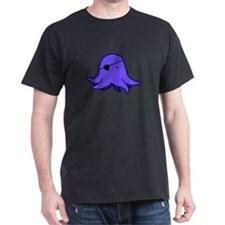 Blue Eyepatch Squid (Dark) T-Shirt