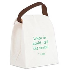 When in Doubt Canvas Lunch Bag