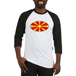 Macedonian Oval Flag  Baseball Jersey