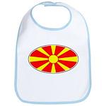 Macedonian Oval Flag  Bib