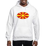 Macedonian Oval Flag Hooded Sweatshirt