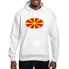 Macedonian Oval Flag Hoodie