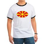 Macedonian Oval Flag  Ringer T