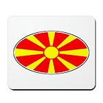 Macedonian Oval Flag  Mousepad