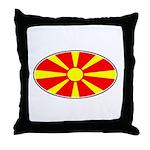 Macedonian Oval Flag  Throw Pillow