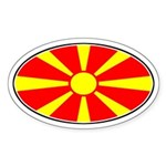 Macedonian Oval Flag Oval Sticker