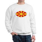 Macedonian Oval Flag  Sweatshirt
