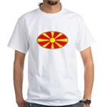 Macedonian Oval Flag White T-Shirt