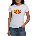 Macedonian Oval Flag Women's T-Shirt