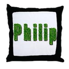 Philip Grass Throw Pillow