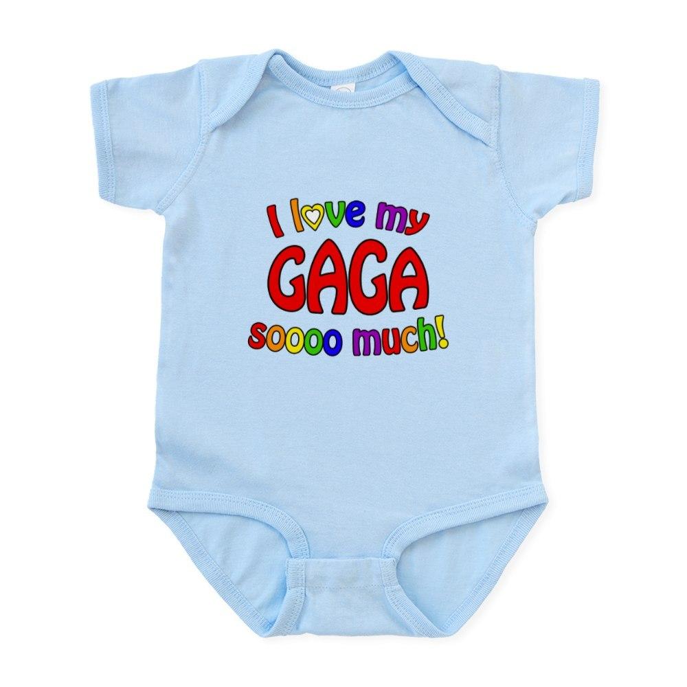 Infant Bodysuit Baby Bodysuit 757045100 CafePress I Love My GAGA Soooo Much