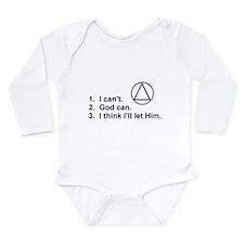 First Three Steps Long Sleeve Infant Bodysuit