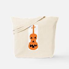 Violin Jack o'Lantern Canvas Trick or Treat Bag