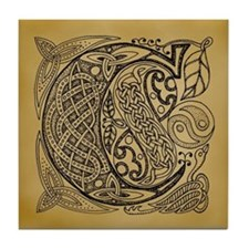 Celtic Letter C Tile Coaster