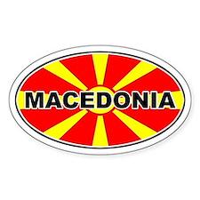 Macedonian Oval Flag Oval Decal