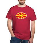 Macedonian Oval Flag  Dark T-Shirt