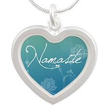 Namaste Silver Heart Necklace
