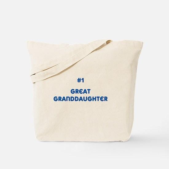 #1 Great Granddaughter Tote Bag