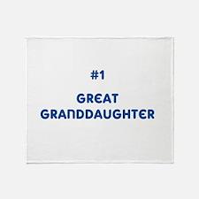 #1 Great Granddaughter Throw Blanket
