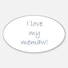 I love my memaw Sticker (Oval)