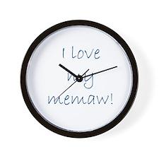 I love my memaw Wall Clock