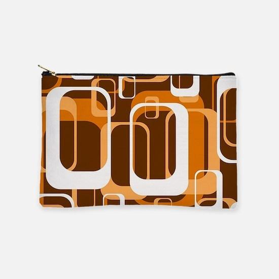 retro pattern 1971 orange Makeup Pouch