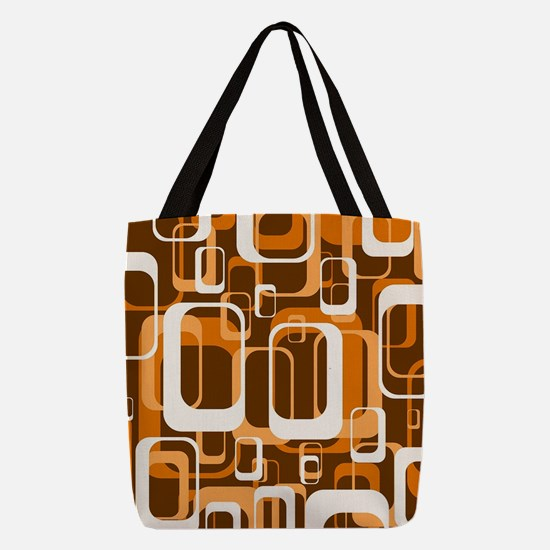retro pattern 1971 orange Polyester Tote Bag