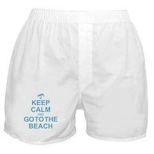 Keep Calm Go To The Beach Boxer Shorts
