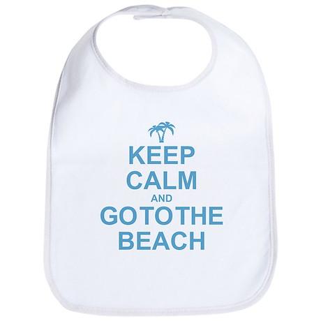 Keep Calm Go To The Beach Bib