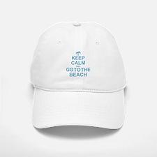 Keep Calm Go To The Beach Baseball Baseball Cap