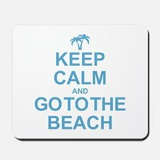 Keep Calm Go To The Beach Mousepad