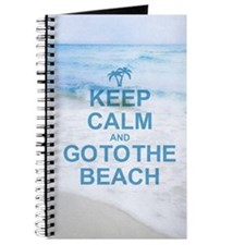 Keep Calm Go To The Beach Journal