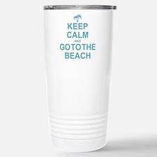 Keep Calm Go To The Beach Travel Mug